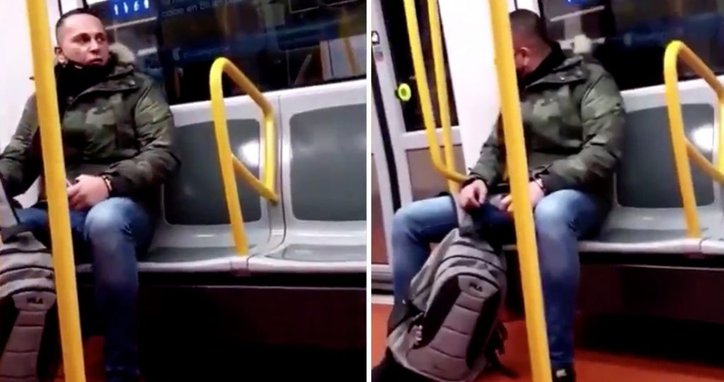 """""""You think you are something in my country.""""  Video showing a racist attack on a woman in the Madrid metro"""