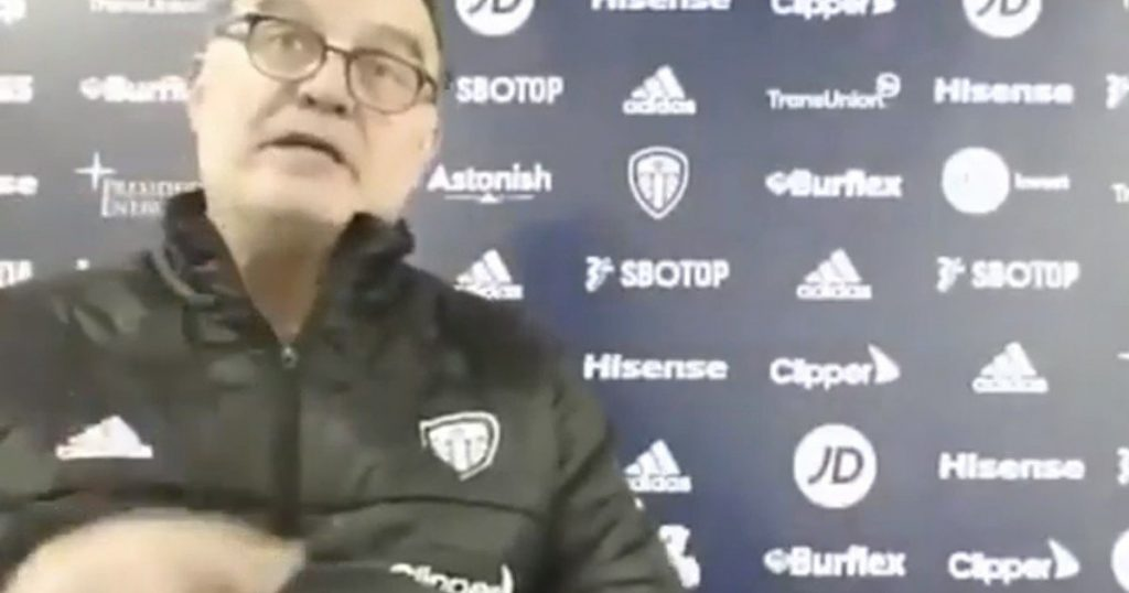 Marcelo Bielsa received encouragement and spoke in English to the British press