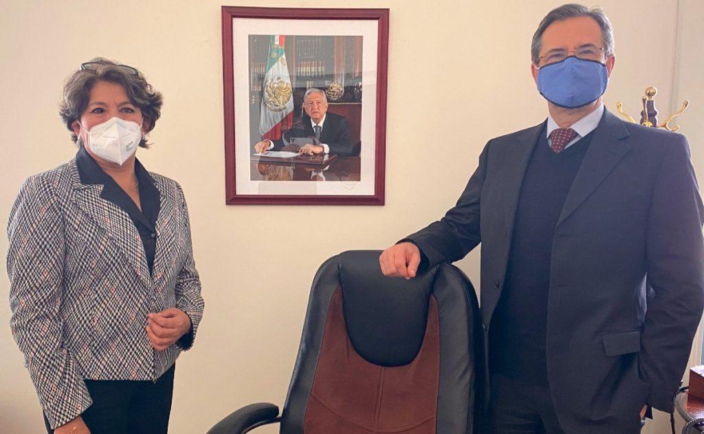 Delfina Gómez y Esteban Moctezuma. SEP inicia transición para cambio de titular