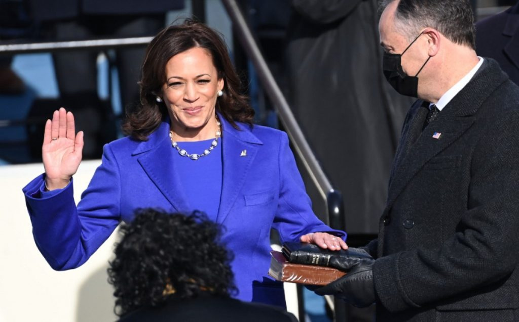 Kamala Harris.  This is how she looked at the swearing-in as Vice President of the United States