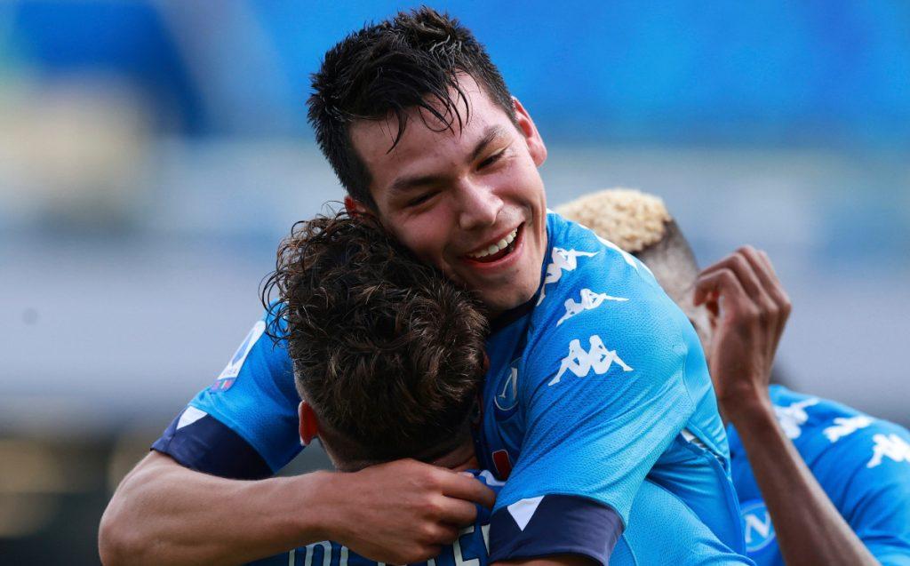 The goals of Chucky Lozano in the Napoli match against Fiorentina, video