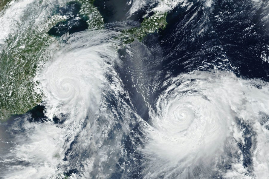 Tropical cyclones are approaching the shores, according to E.