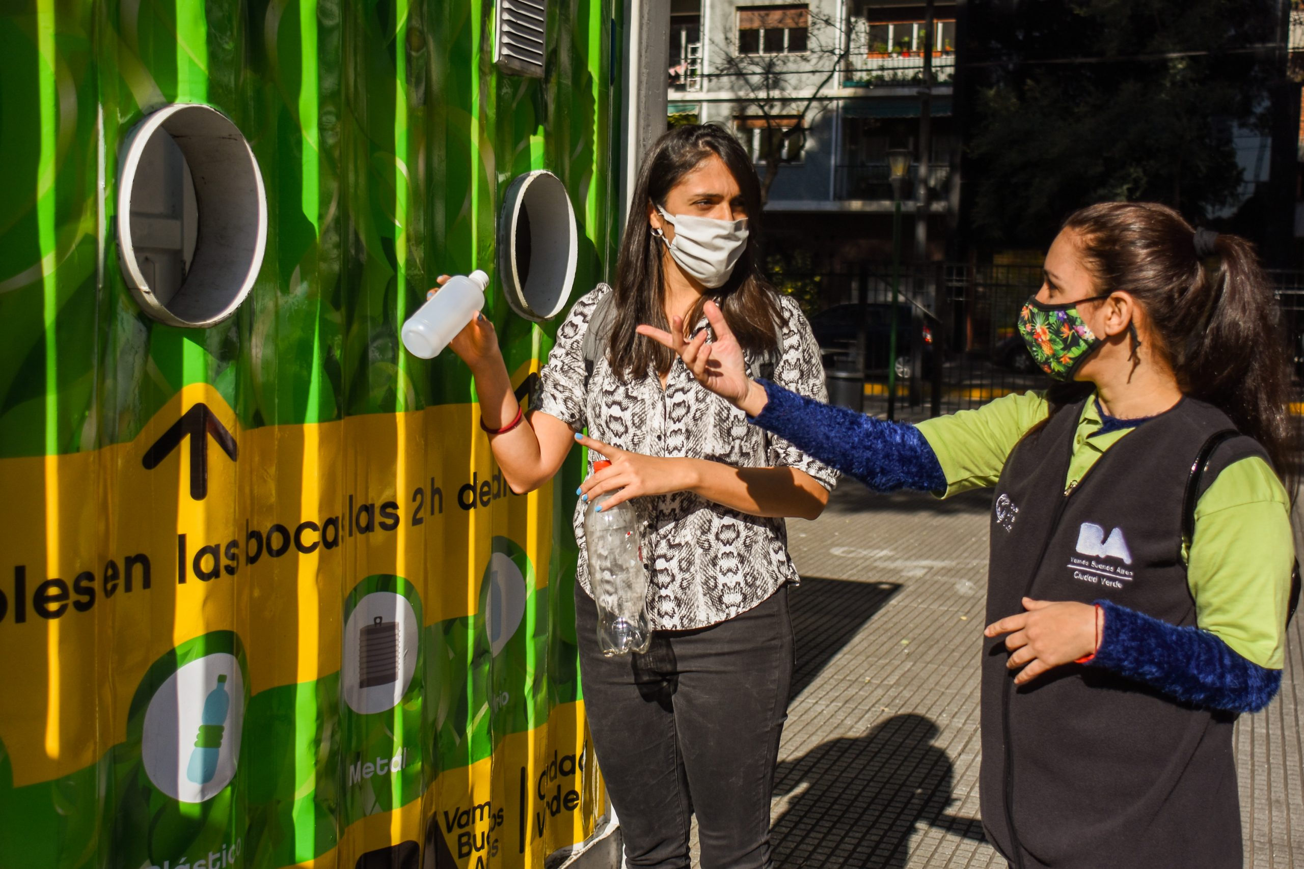Where are the green points to leave the recyclables |