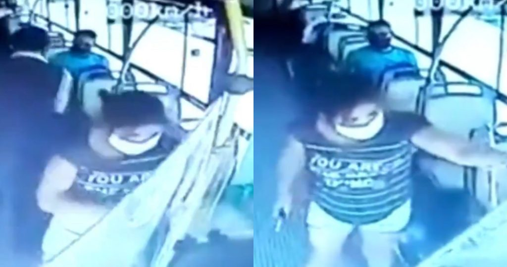 Powerful video: A woman stabs a bus driver and asks her to wear face masks, in Argentina