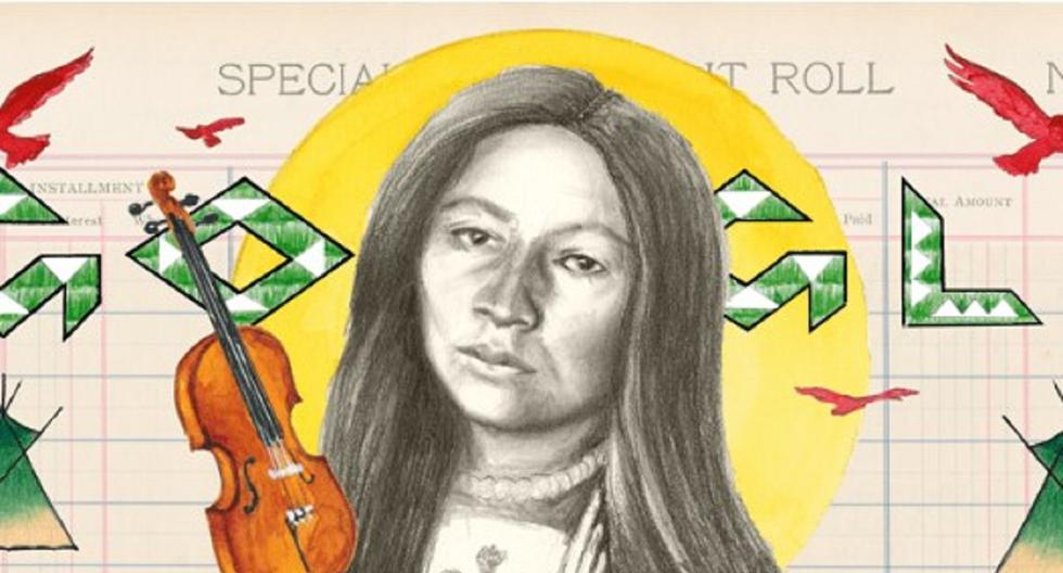 Zetkala |  Google Celebrates Sioux Birthday For Writer, Composer And Activist |  Doodle |  Gertrude Simons |  United States |  Technique
