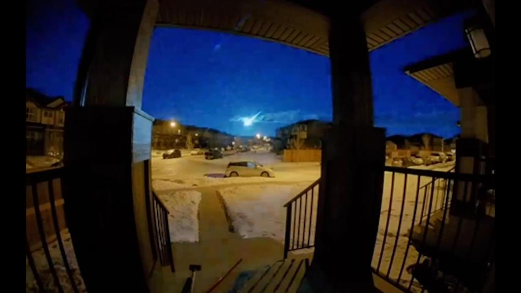 A stunning blue fireball lights up the sky