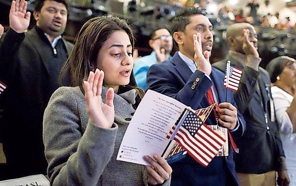 Biden denounces the citizenship test