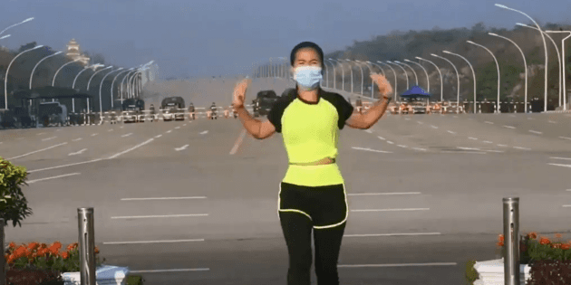 "Viral: Aerobics teacher captures ""by chance"" the coup in Myanmar"