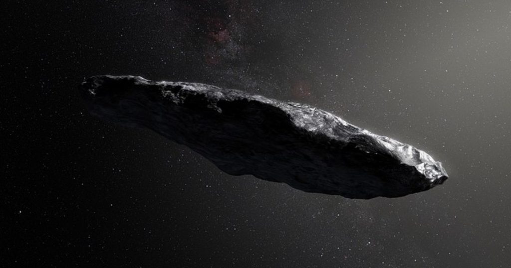 Why does a Harvard astronomer think that a strange spacecraft visited us?