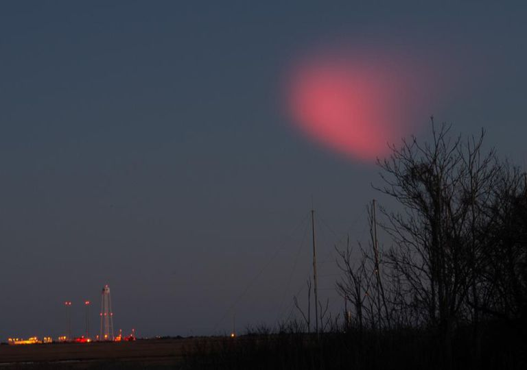 A red light in the sky