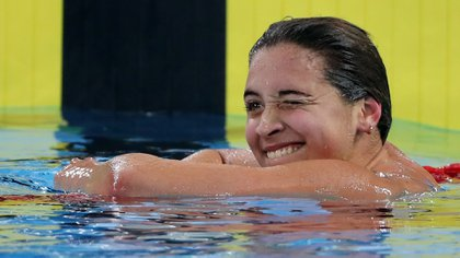 Argentine swimmer competes in her first adult Olympic Games in Tokyo 2020 (Reuters)