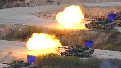Military exercises have been taking place in South Korea since 1986 (AFP)