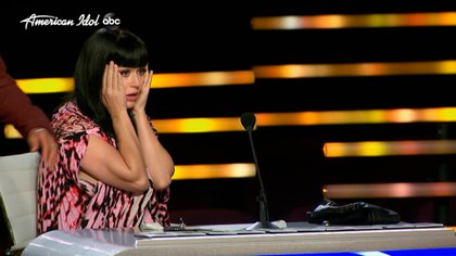 Katy Perry's reaction after the participant fainted