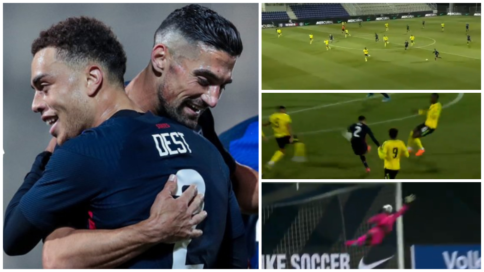 USA vs Jamaica: Sergio Dest opened the scoring account with
