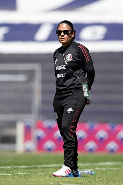 Monica Vergara, during a preparatory match in Mexico City (Photo: Itzel Espinoza / EFE / Imago7 / Fmf)