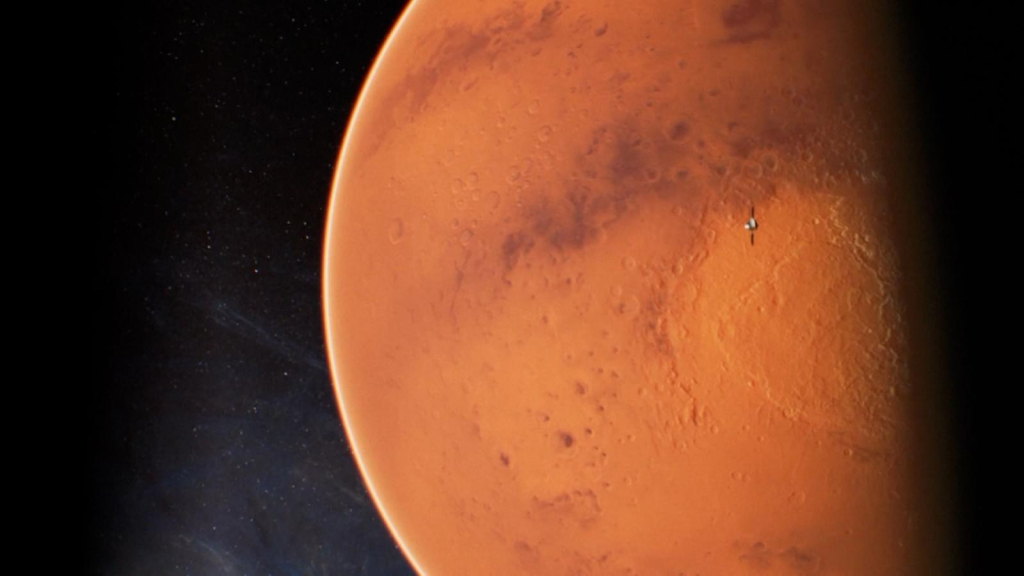 Photos of Mars taken by China and the United Arab Emirates