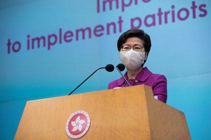 Hong Kong Chair Carrie Lam (EFE / EPA / JEROME FAVRE)