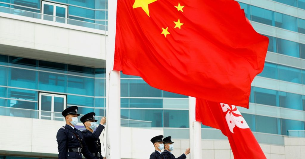 "The United States accused China of ""severely undermining Hong Kong's rights and freedoms."""