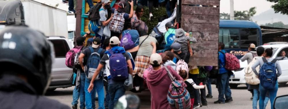 A new convoy of immigrants leaves from Honduras for the United States |  USA