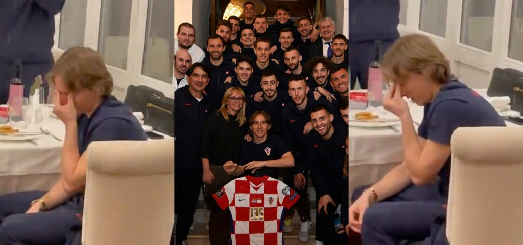 Impossible not to be excited: Luka Modric broke down in tears after being honored for scoring most of the matches with the Croatian national team.