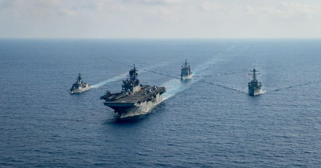 The United States showed its support to the Philippines in the face of Chinese incursions into the South Sea