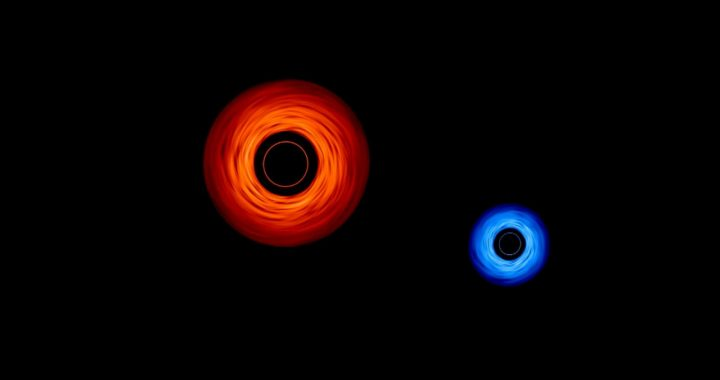 "This is the ""dance"" of two black holes shared by NASA 