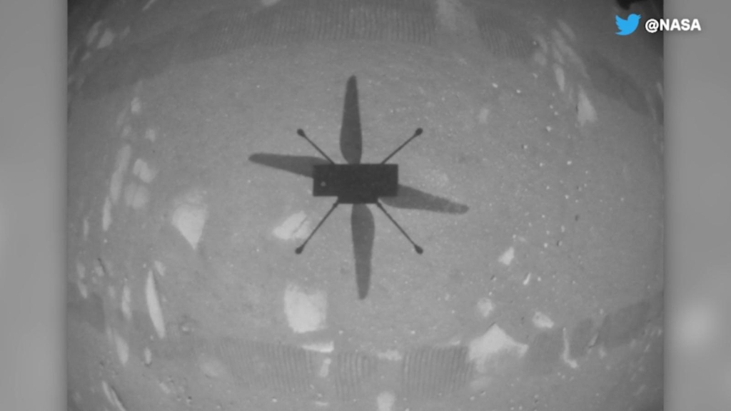 This is how the creativity helicopter flew on the surface of Mars