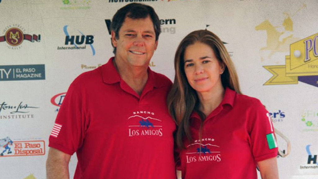 Paul Foster and Alejandra de la Vega, faces in front of Juarez