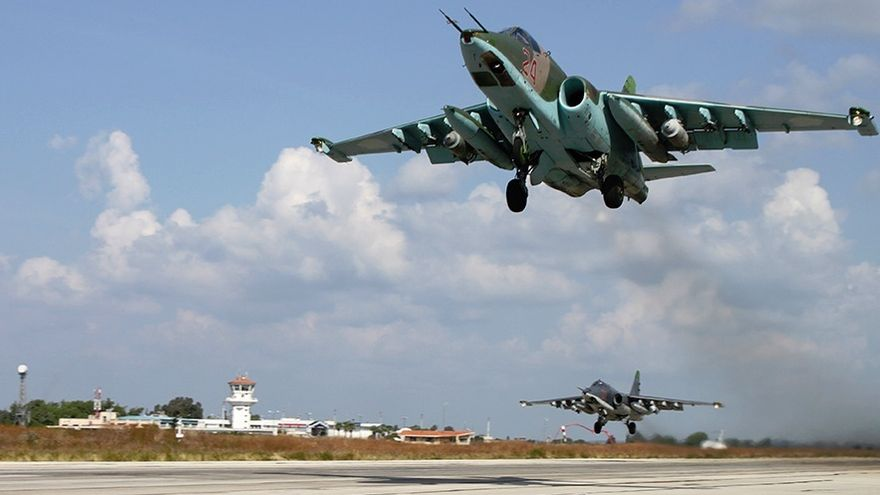 A Russian fighter jet intercepts a US military aircraft near Russian airspace