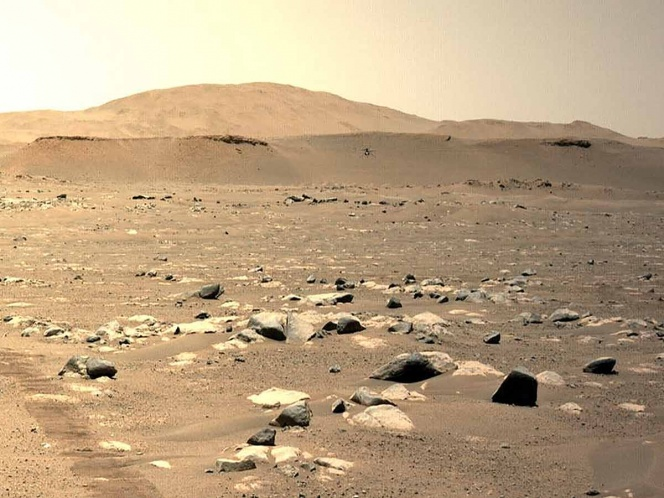 Creativity is making a third trip over Mars and that's captured