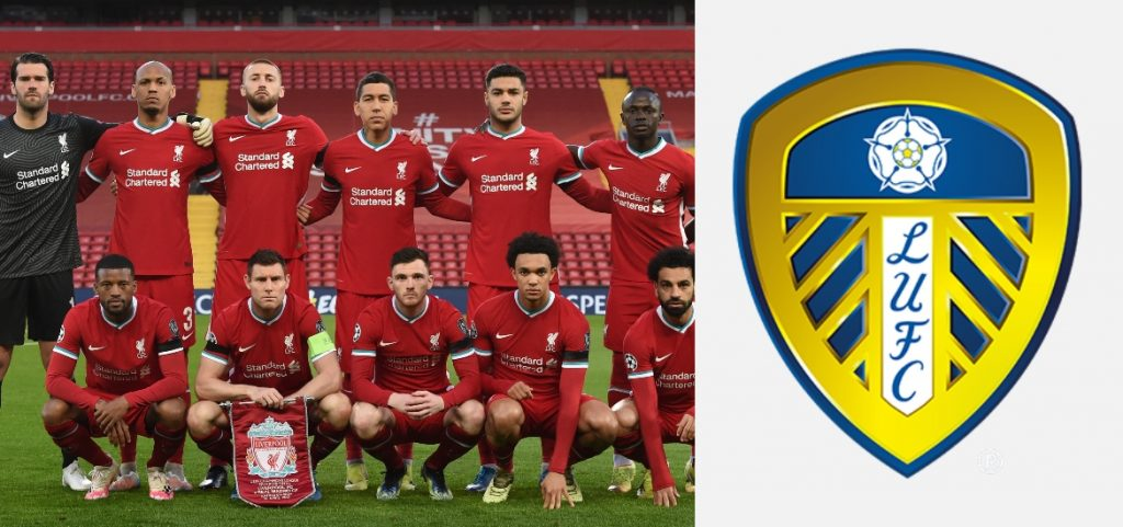 Round the world cart: Leeds United announced their score against Liverpool and told them the Merseyside Reds in the Premier League.