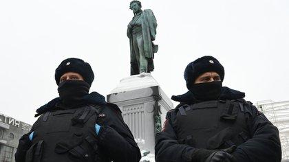 Russian policemen.  File image.  Kirill Kudryavtsev / Agence France-Presse
