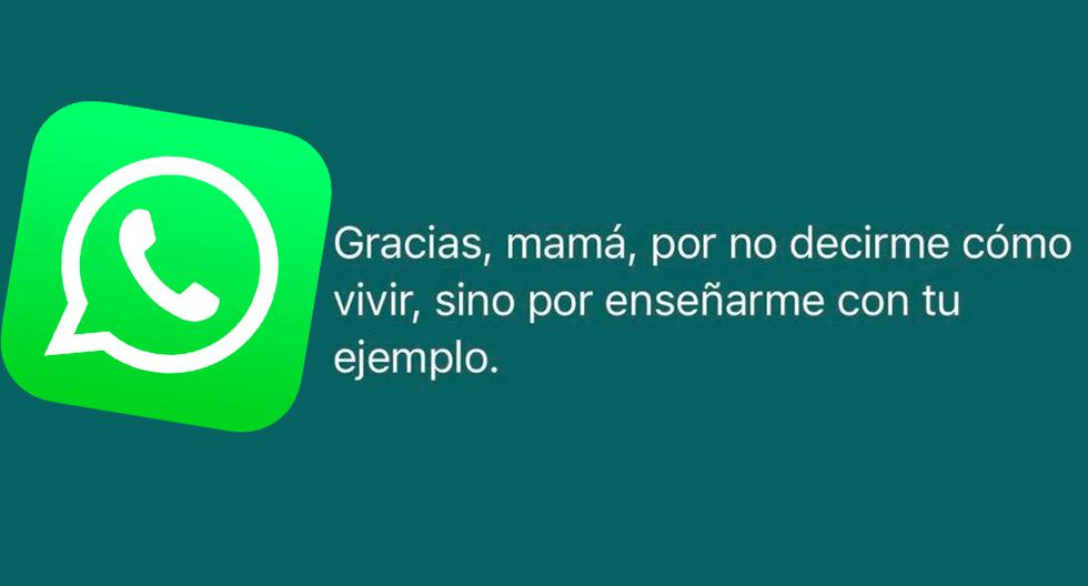 WhatsApp |  Creative Mother's Day phrases |  Second Sunday in May |  Mother's Day  Messages |  Applications |  Smartphone |  United States |  Spain |  Mexico |  NNDA |  NNNI |  SPORTS-PLAY