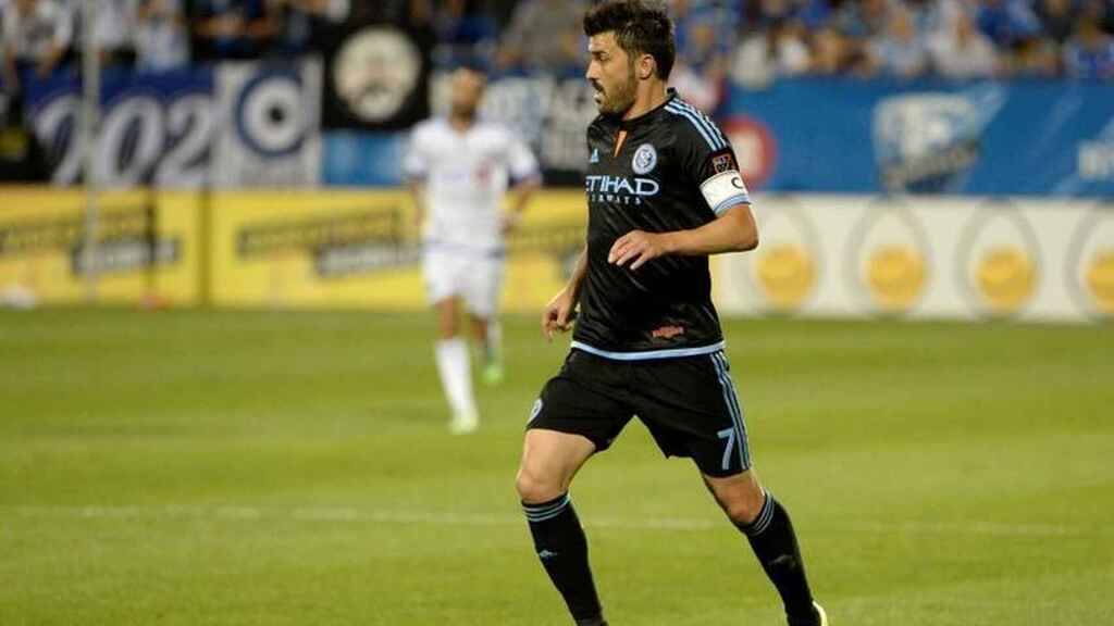 David Villa during a match with New York City