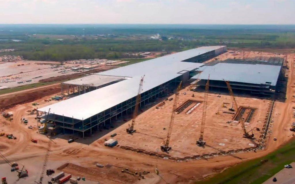 construcción de la Gigafactoría de Austin en Texas