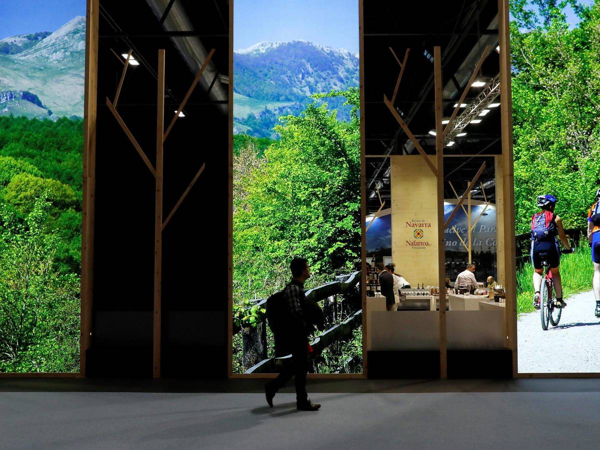 Photo: One of Fitur's pavilions in 2020 (EFE)