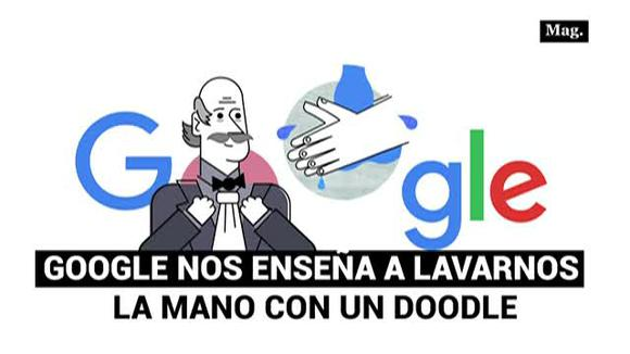Google teaches us to wash our hands with a doodle
