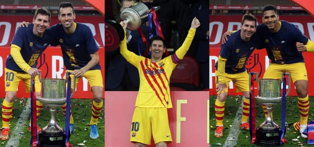 Nice thing: Lionel Messi told how he felt when all of his teammates asked him for a photo after winning the King's Cup.