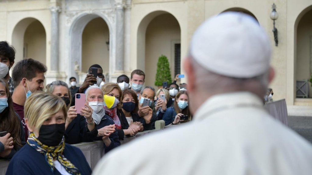 "Teaching the Pope: ""Prayer is not easy. It is a joyful and exhausting battle."""