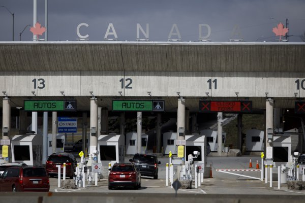 The Canadian government begins work to reopen the border with the United States