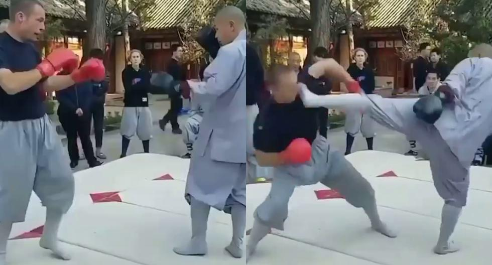 Viral video |  Faster Than Lightning: Shaolin Monk Defeats MMA Fighter in One Hit |  Instagram |  China |  Directions |  Directions |  nnda nnrt |  Mexico