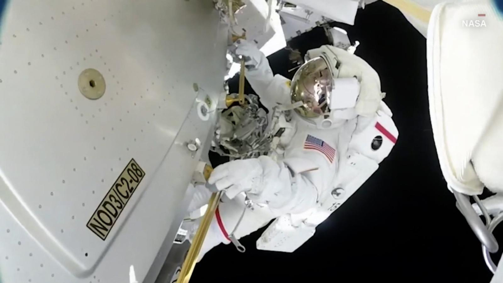 This is the experience of walking in space