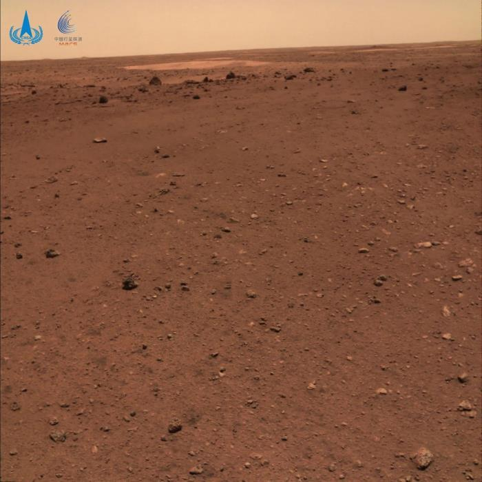 China publishes several color photos of the surface of Mars