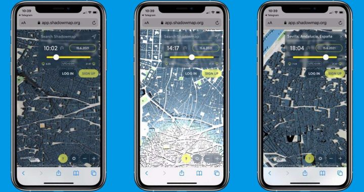 Hot?  This app tells you where to walk so it gives you shade