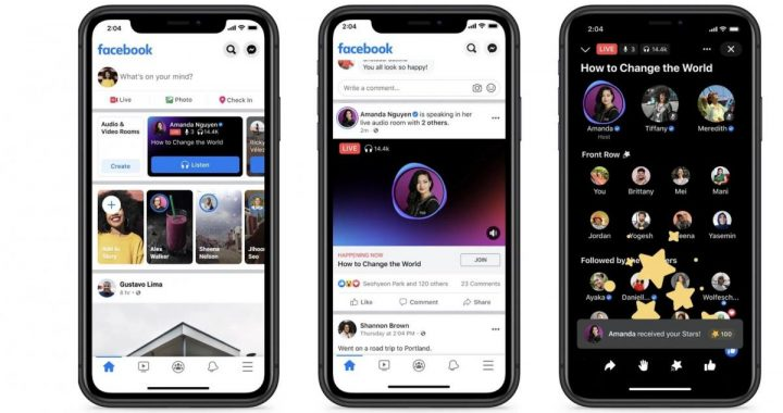 Facebook launches Live Audio Rooms in the US
