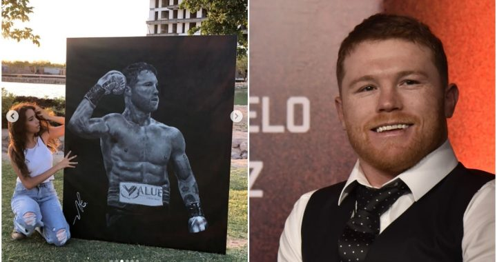 A student draws a picture of a boxing champion - Noticieros Televisa