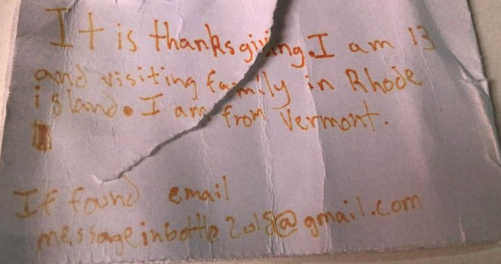 A young man in Portugal found a message in a bottle that was dropped from the northern United States