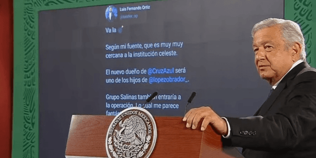 AMLO rules out his kids will buy Cruz Azul and attack fake news