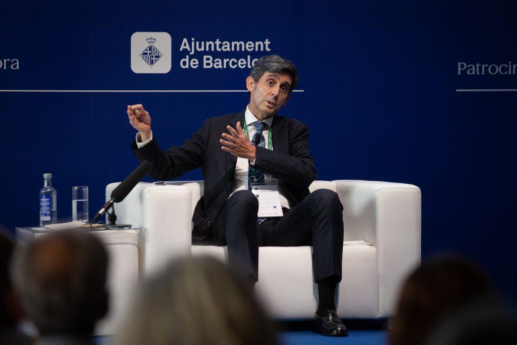 El presidente de Telefónica, José María Álvarez-Pallete, en la Reunión del Círculo de Economía.