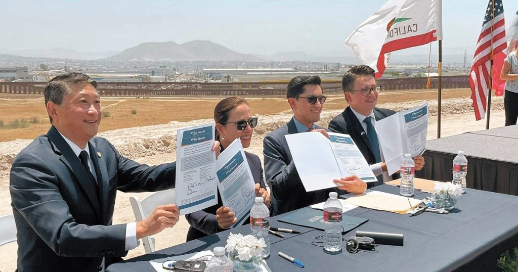 Mexico and California sign agreement for massive border infrastructure project